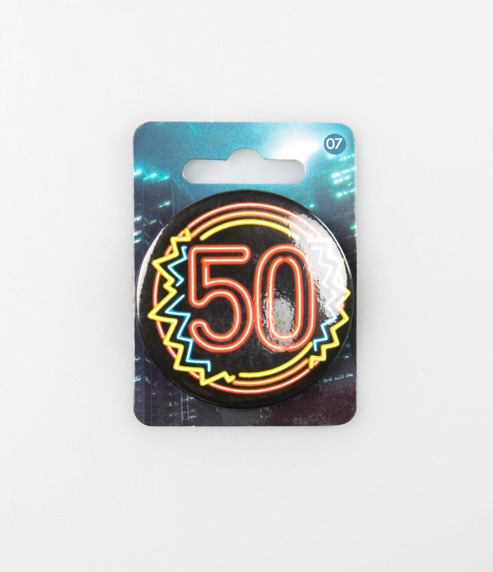 Button Neon 50 5.5cm