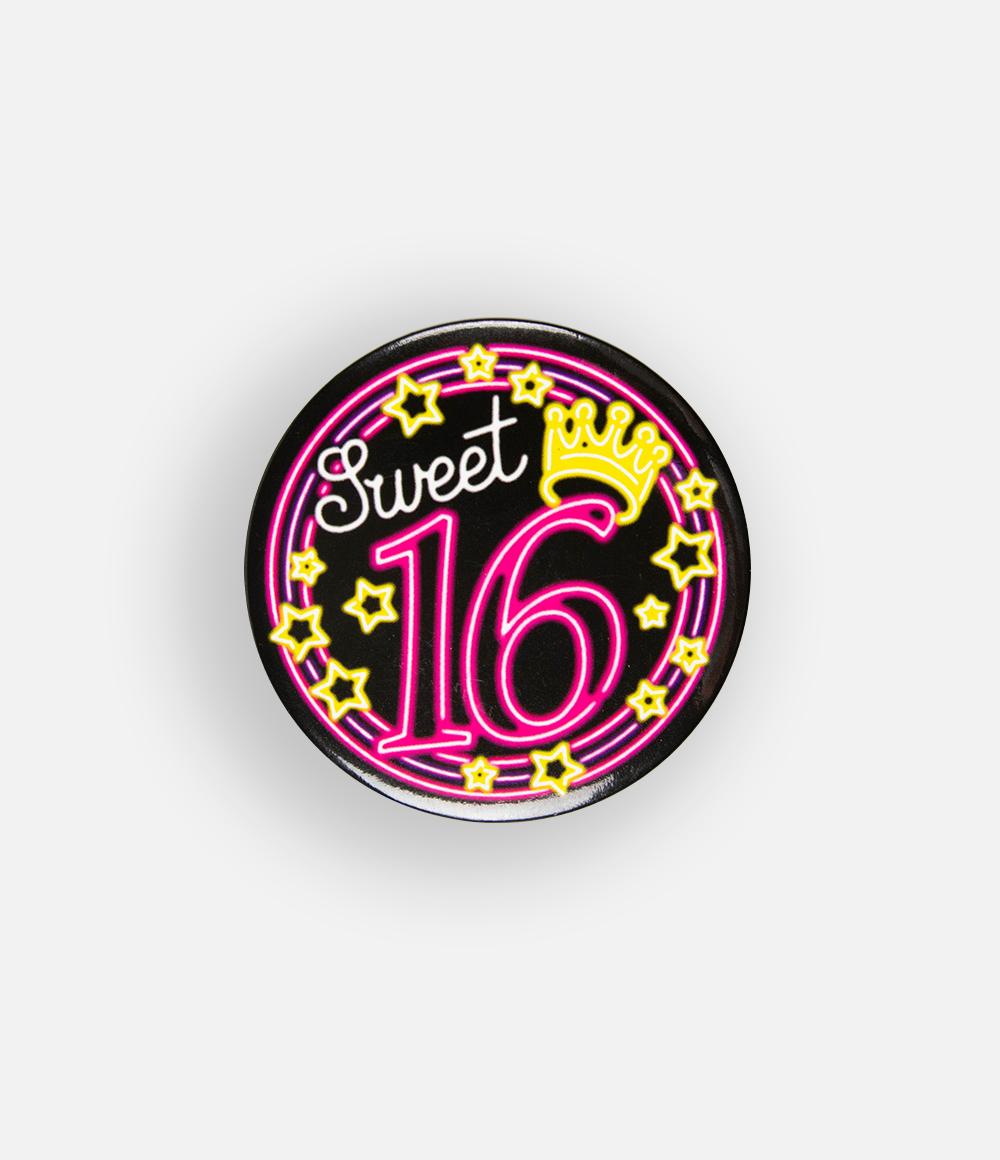 Button Neon Sweet 16 5.5cm