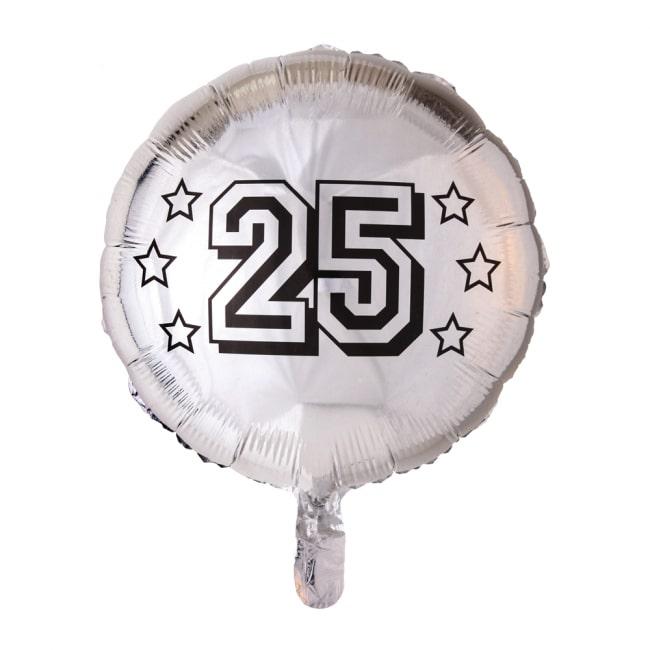 Folieballon 25 Jaar Zilver 46cm