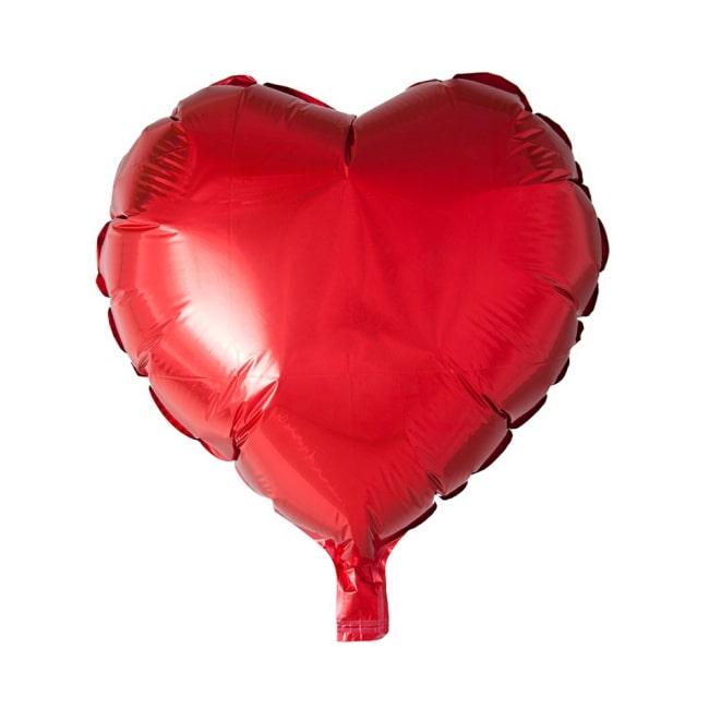 Folieballon Hart Uni Rood 46cm