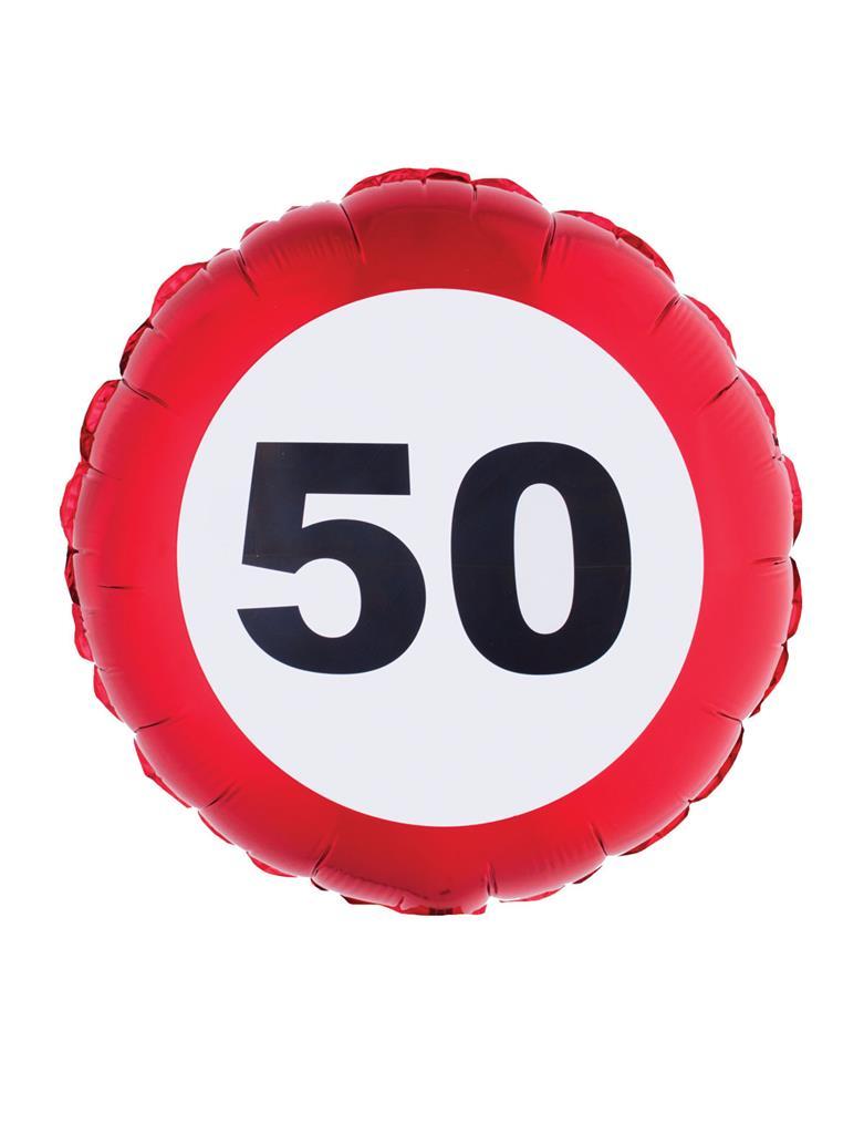 """Folieballon Verkeersbord 50 jaar 18"""""""