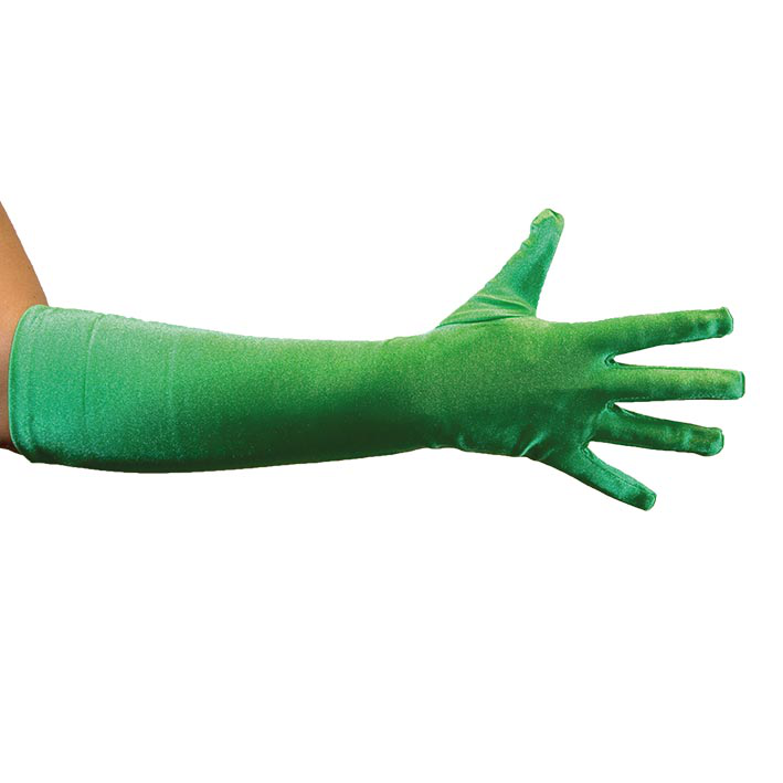 Handschoenen Satijn 40cm Groen