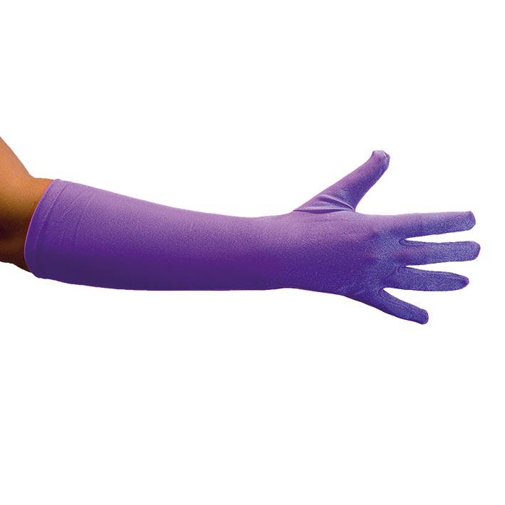 Handschoenen Satijn 40cm Paars