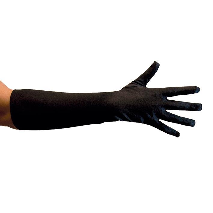 Handschoenen Satijn 40cm Zwart