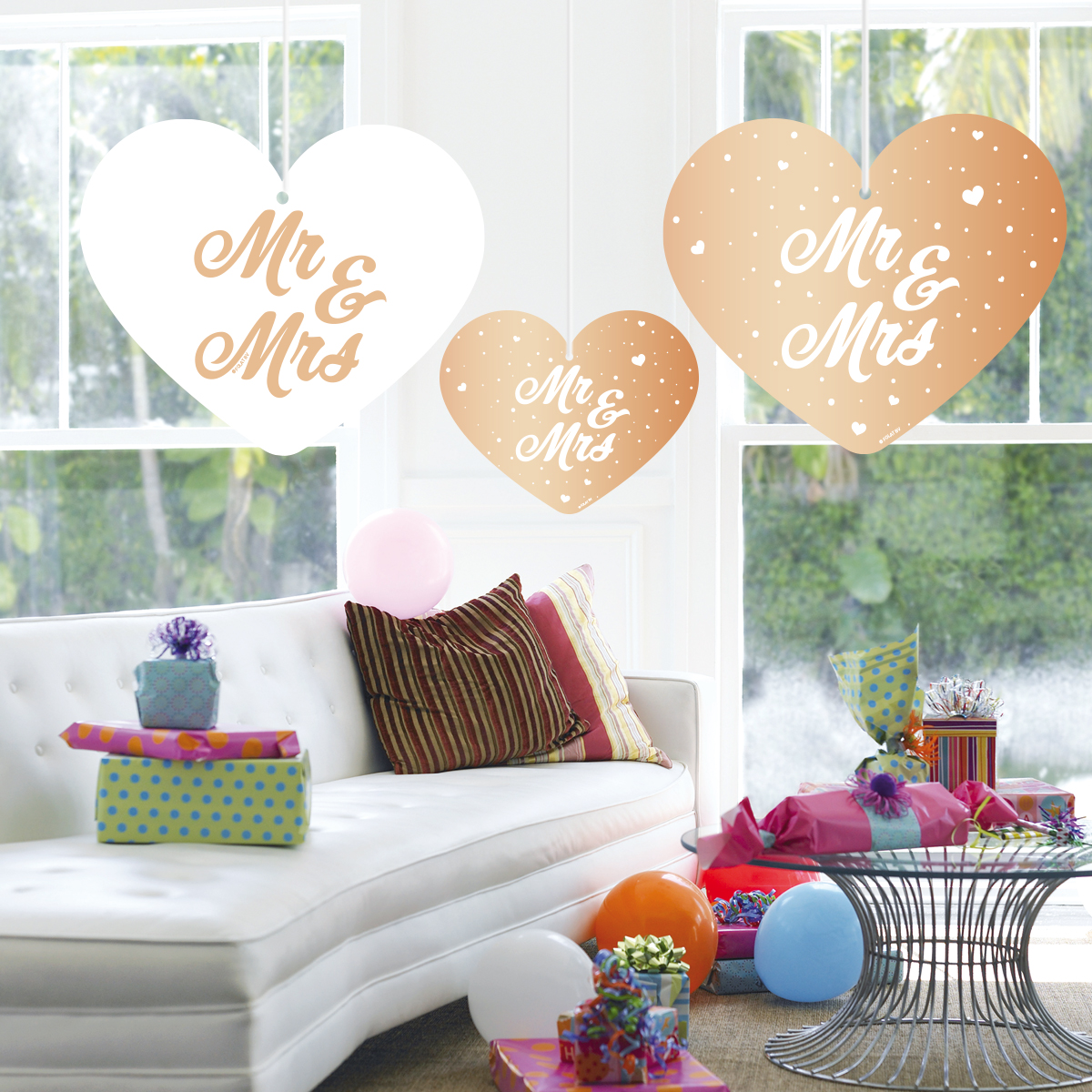 5st Hangdecoratie Mr & Mrs Roségoud