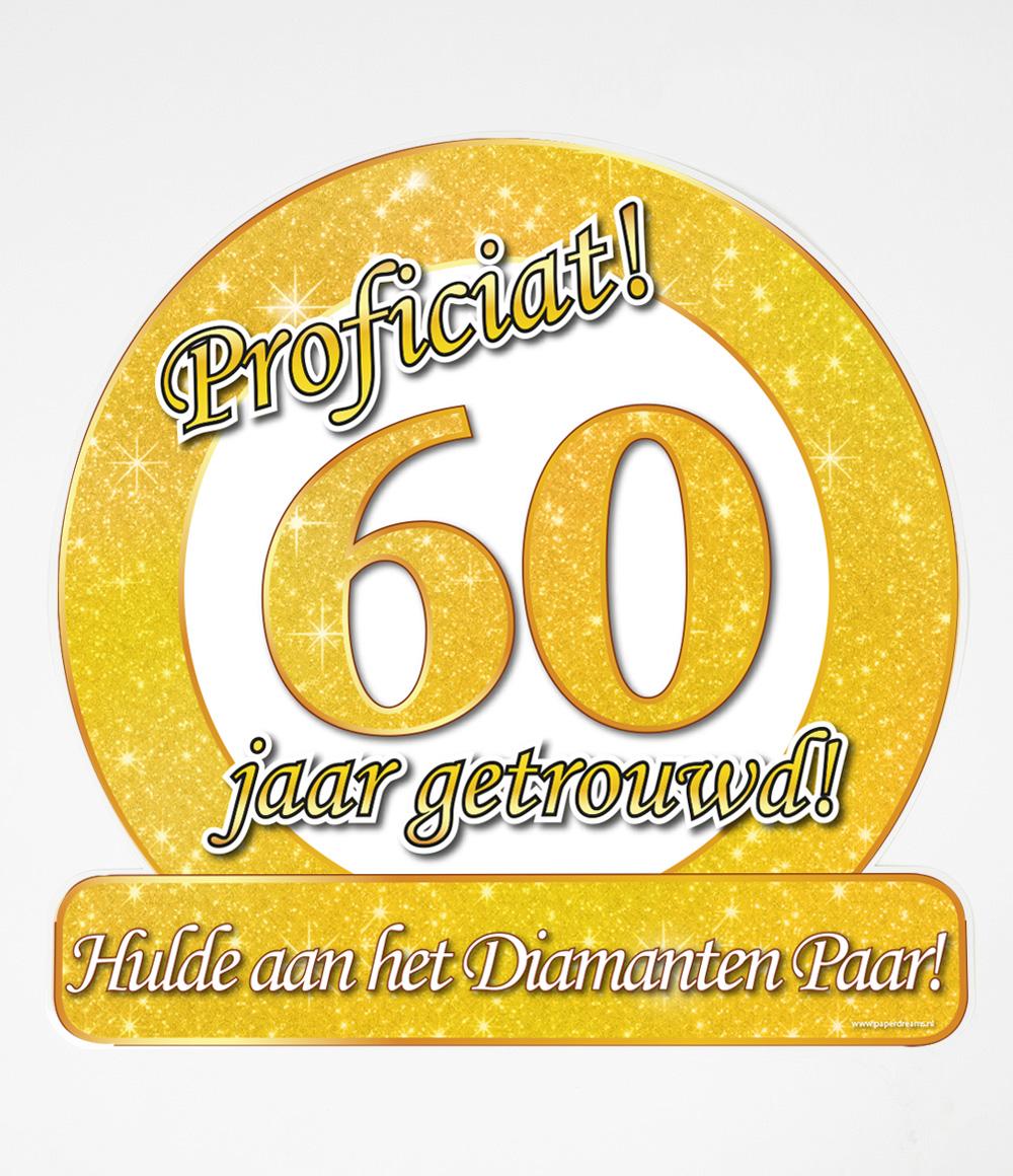 Huldeschild Special 60 jaar Getrouwd