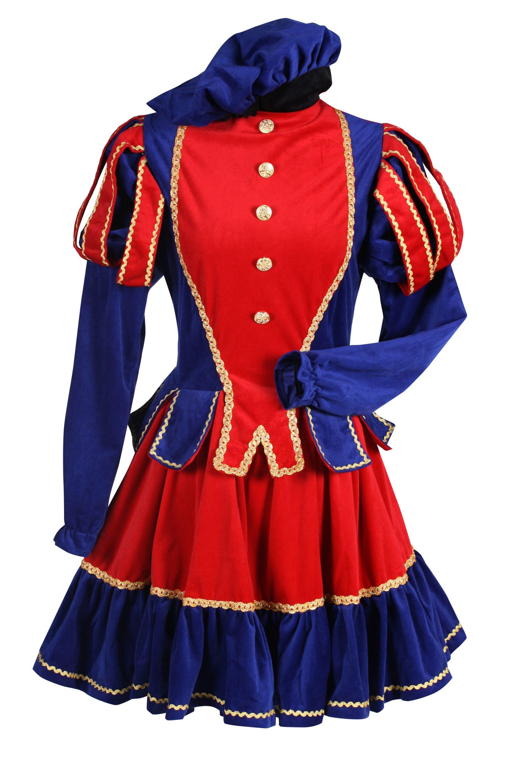 Jurk Damespiet Murcia Blauw/Rood