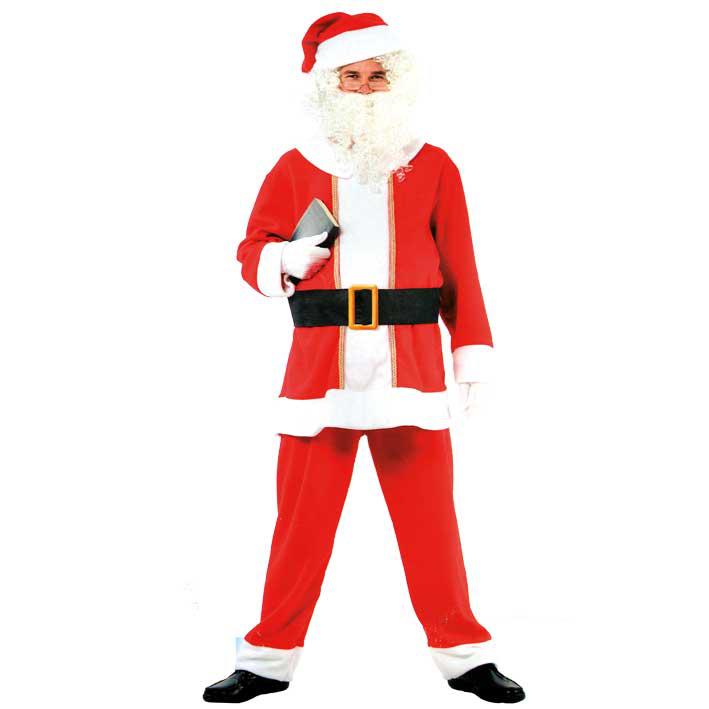 Kostuum Kerstman 6-Delig met Baardstel