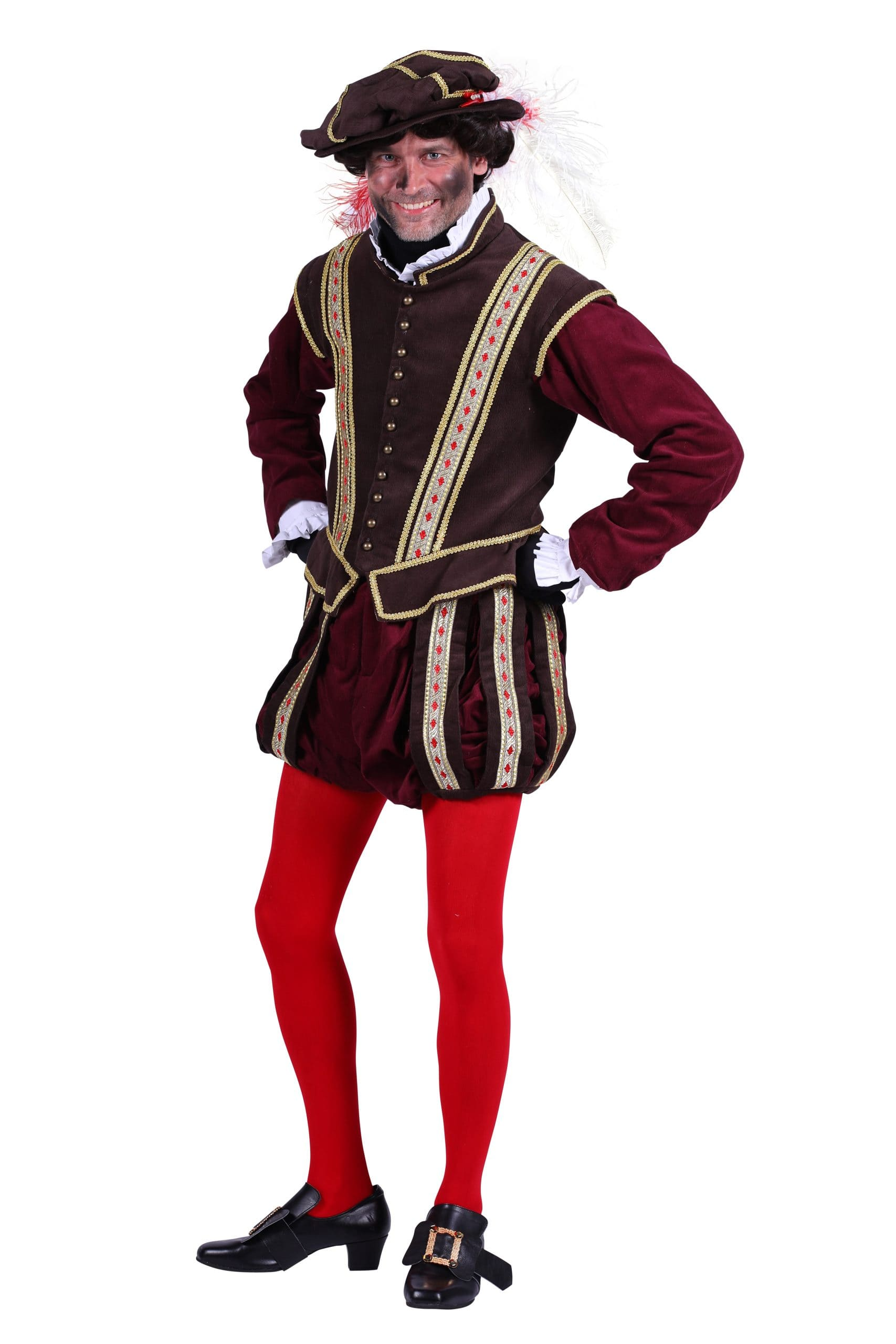 Kostuum Piet Edelman Donker Bruin/Bordeaux