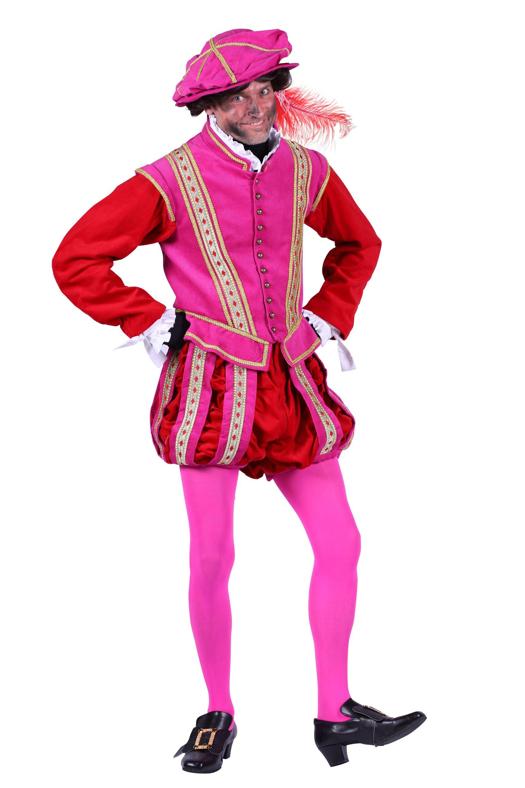 Kostuum Piet Edelman Roze/Rood