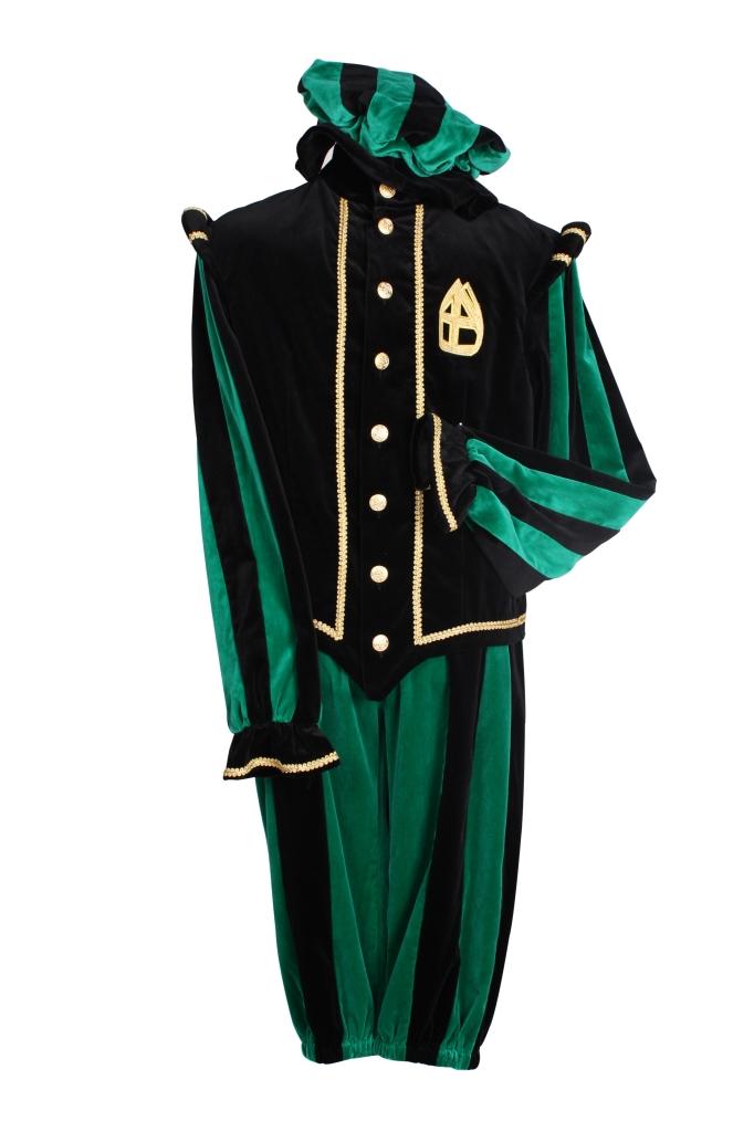 Kostuum Piet Pamplona Zwart/Groen