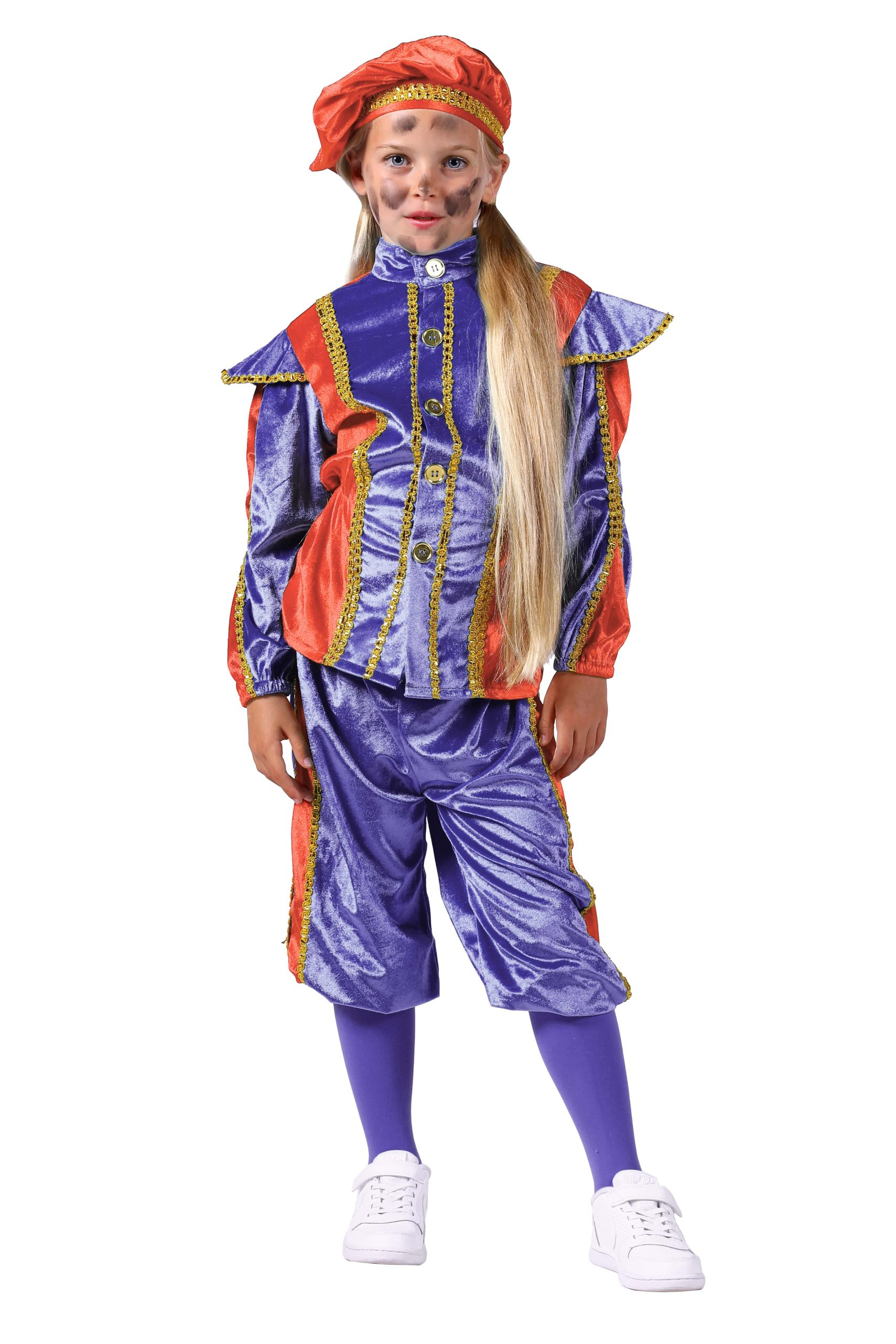 Kostuum Piet Salou Kind Oranje/Paars