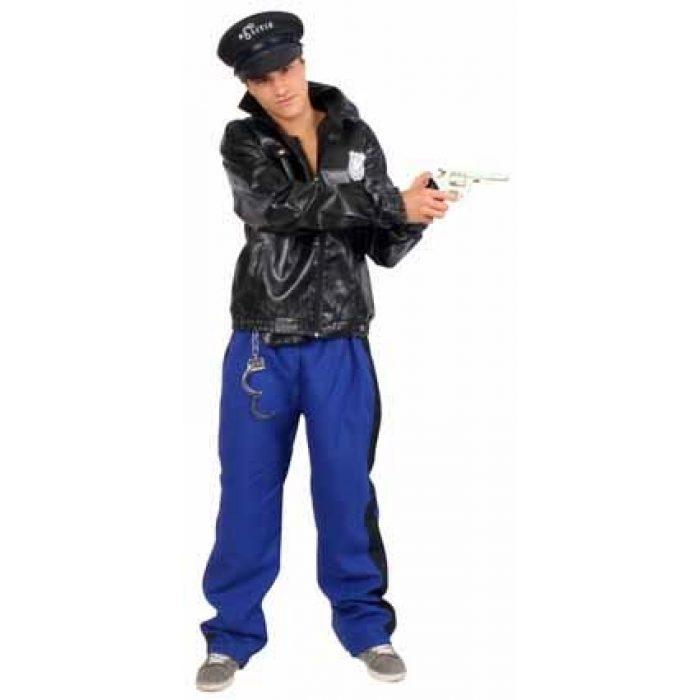 Kostuum Politie Blauw/Zwart Heren Mt.54