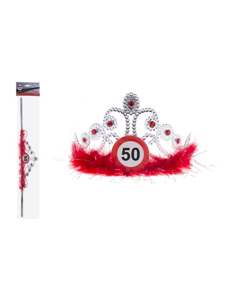 Kroontje met Verkeersbord 50 Verstelbaar