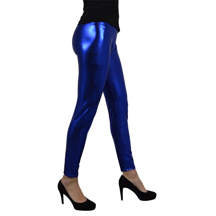 Legging Metallic Blauw Dames