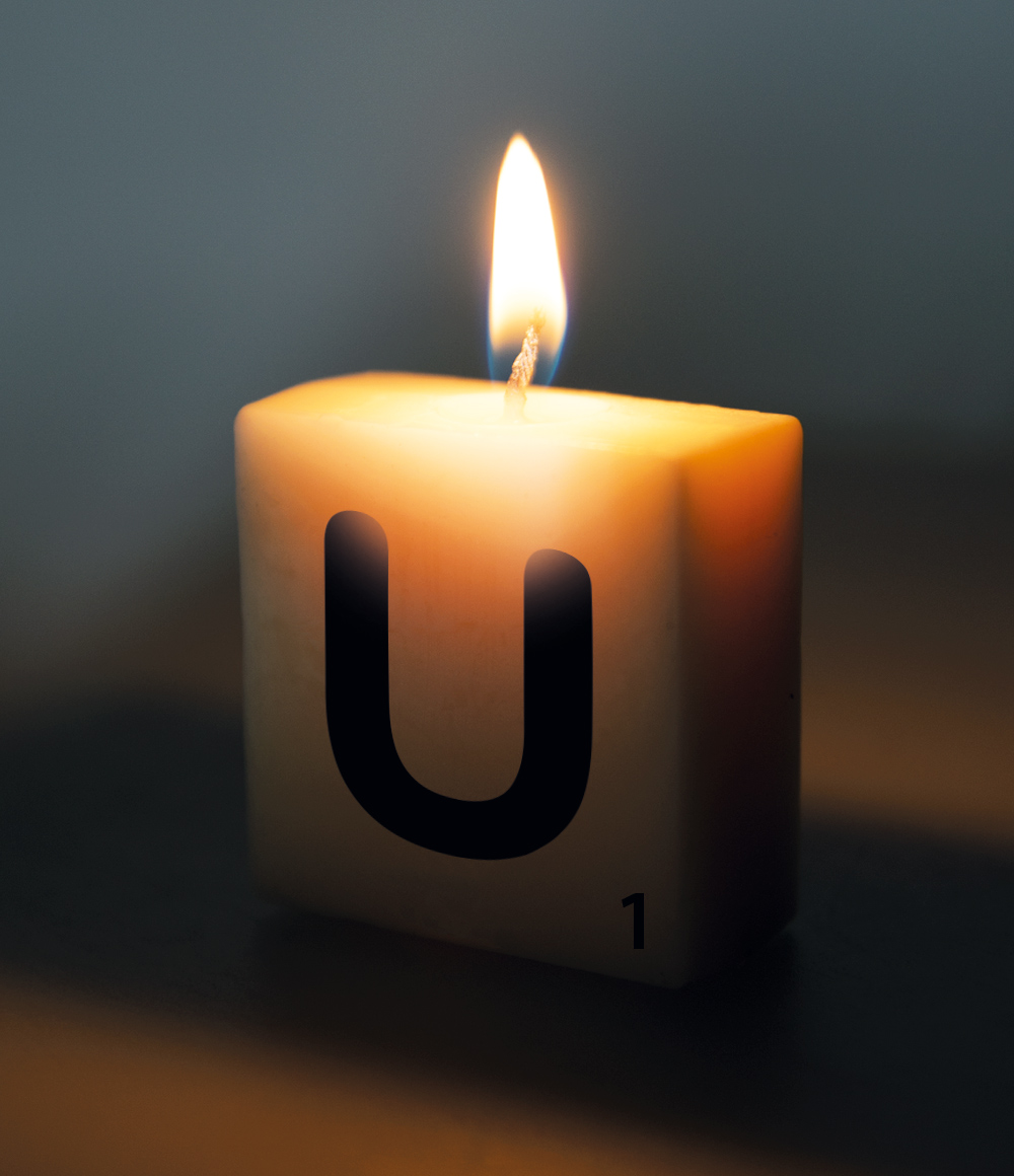 Letterkaarsje Letter-U