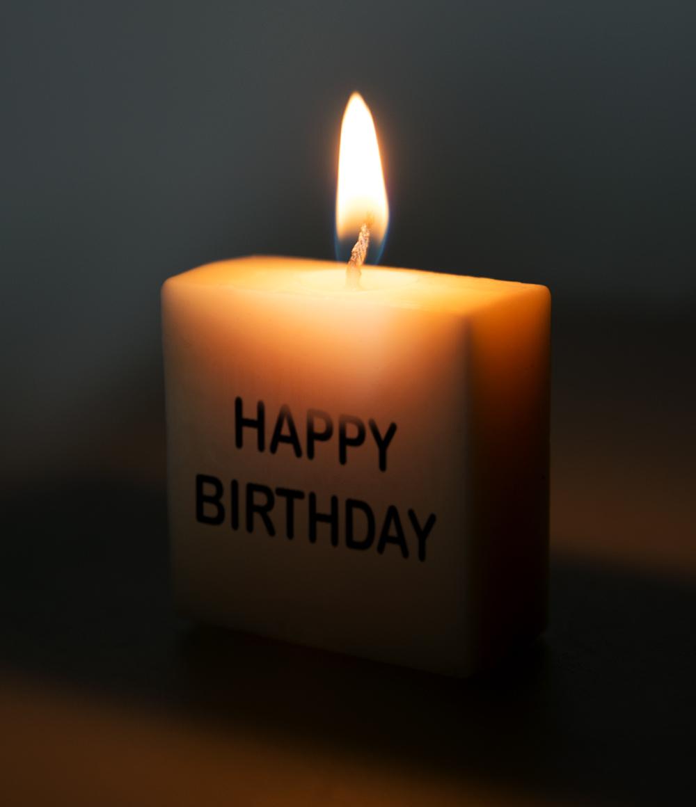Letterkaarsje Tekst-Happy Birthday