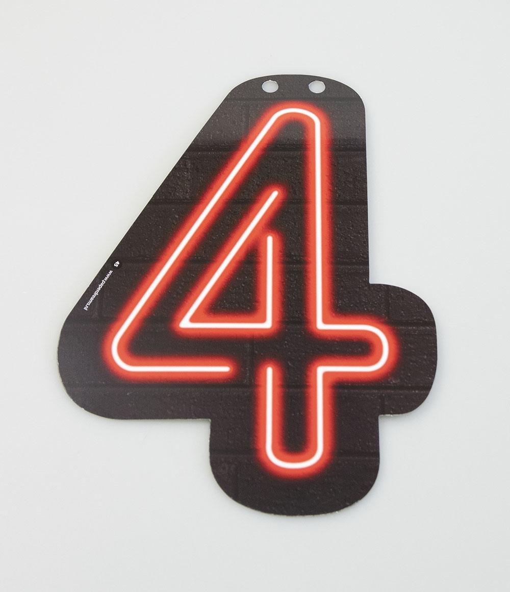 Letterslinger Cijfer-4 Neon