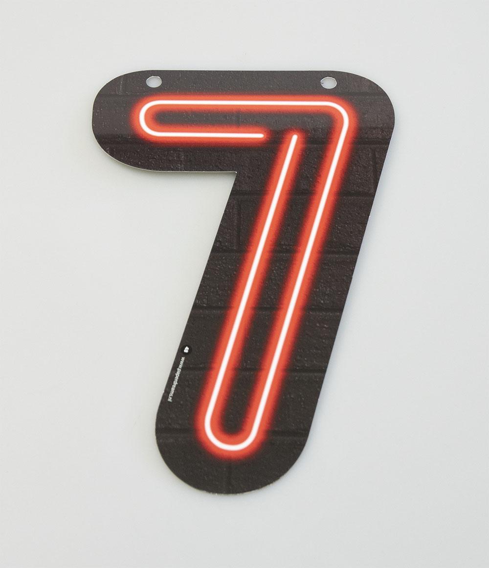 Letterslinger Cijfer-7 Neon
