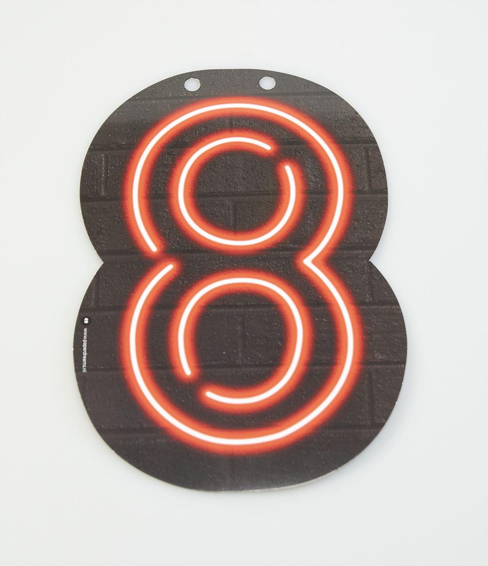 Letterslinger Cijfer-8 Neon