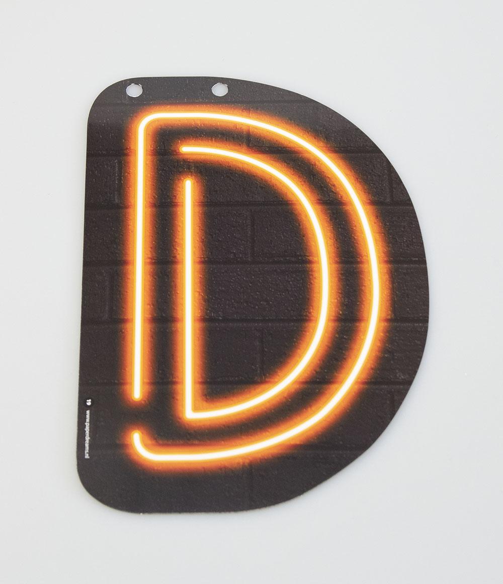 Letterslinger Letter-D Neon