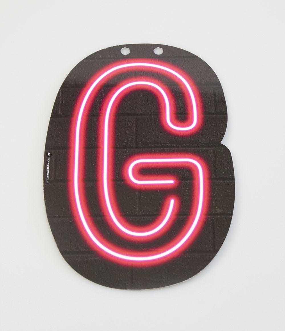 Letterslinger Letter-G Neon