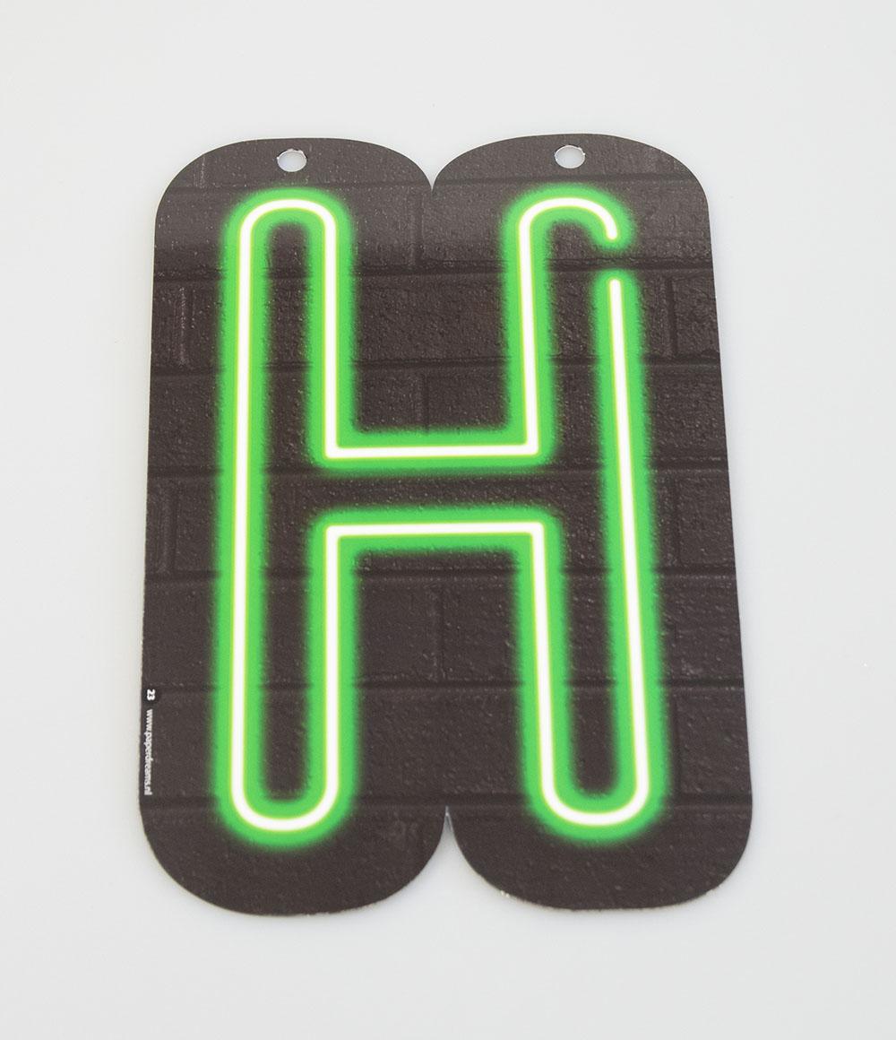 Letterslinger Letter-H Neon