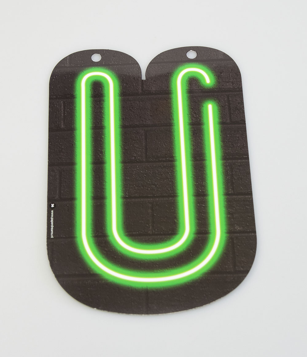 Letterslinger Letter-U Neon