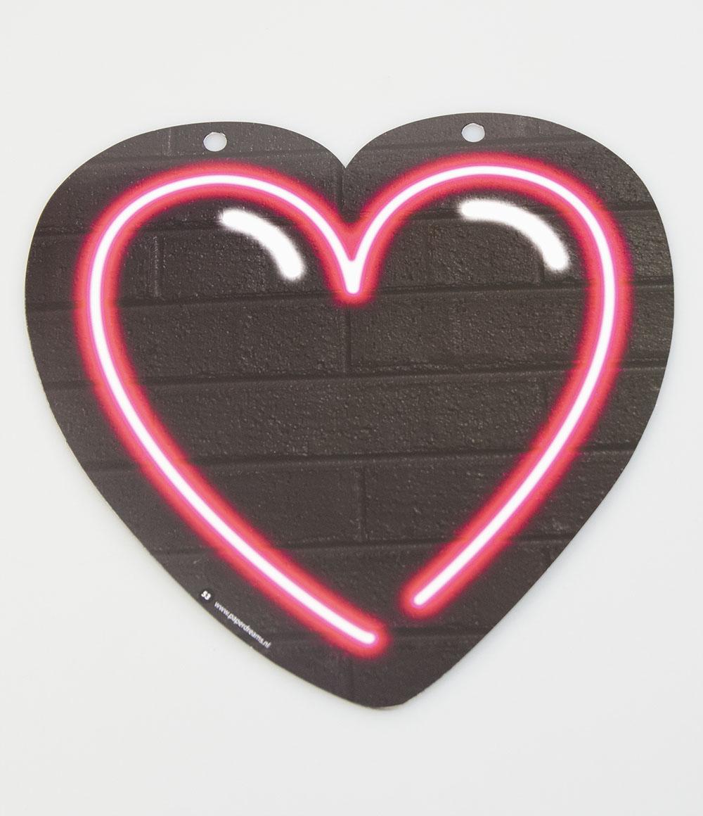 Letterslinger Symbool-Hartje Neon Roze