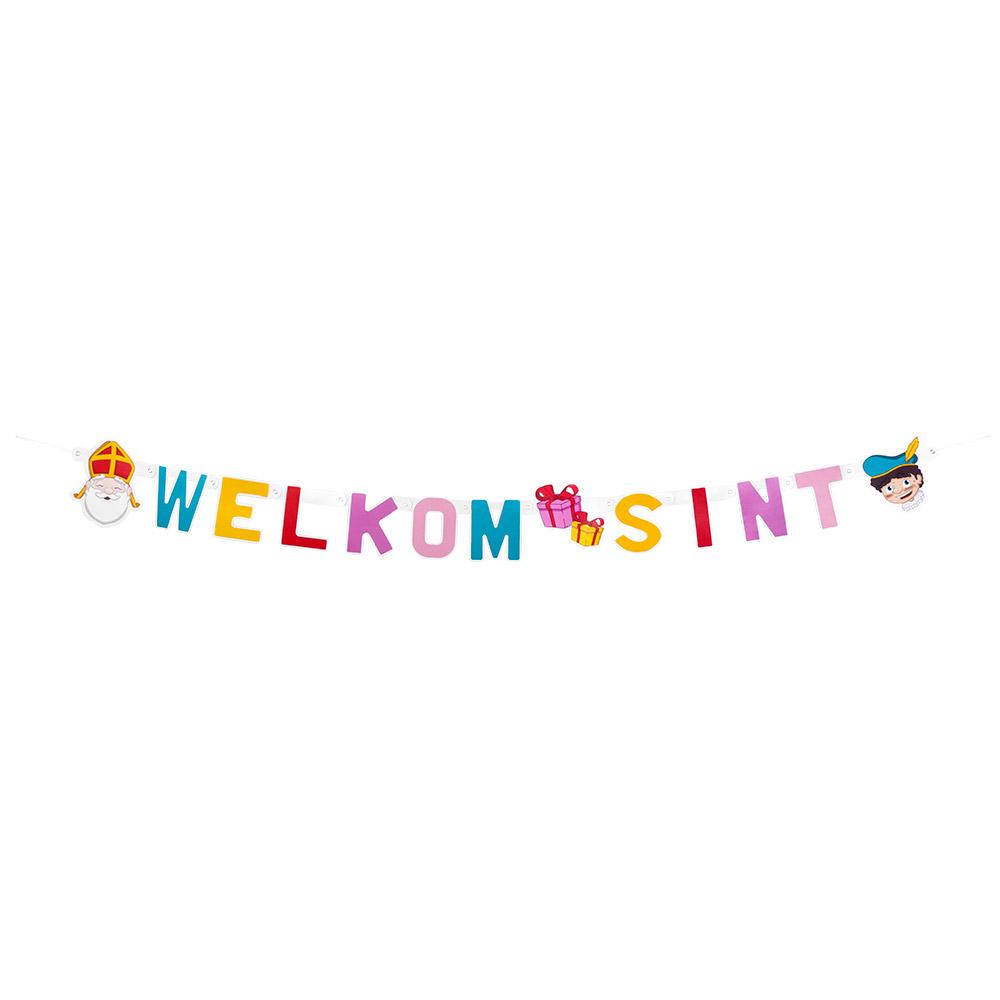 1.5m Letterslinger Welkom Sint Cartoon