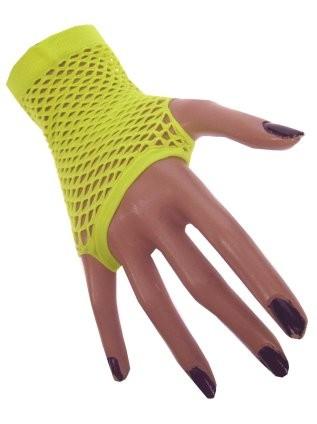 Nethandschoenen Kort Fluor/Neon Geel