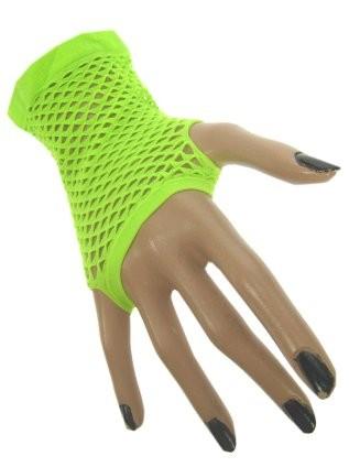 Nethandschoenen Kort Fluor/Neon Groen