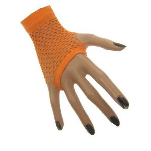 Nethandschoenen Kort Fluor/Neon Oranje