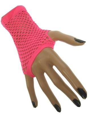 Nethandschoenen Kort Fluor/Neon Roze