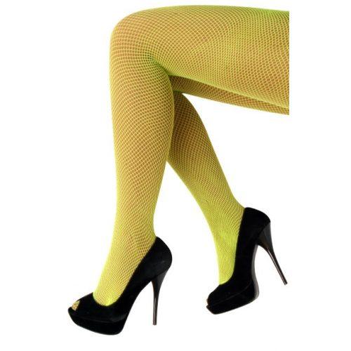 Netpanty Fijne Maas Fluor/Neon Geel One Size
