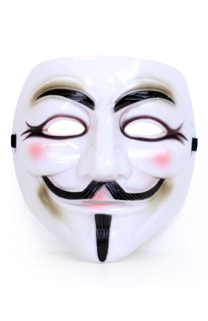 Plastic Masker Vendetta/Guy Fawkes Luxe