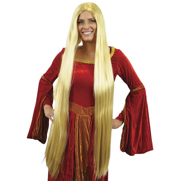 Pruik Lady Godiva Blond (extra lang)