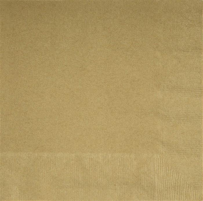 20st Servetten Uni Goud 33x33cm
