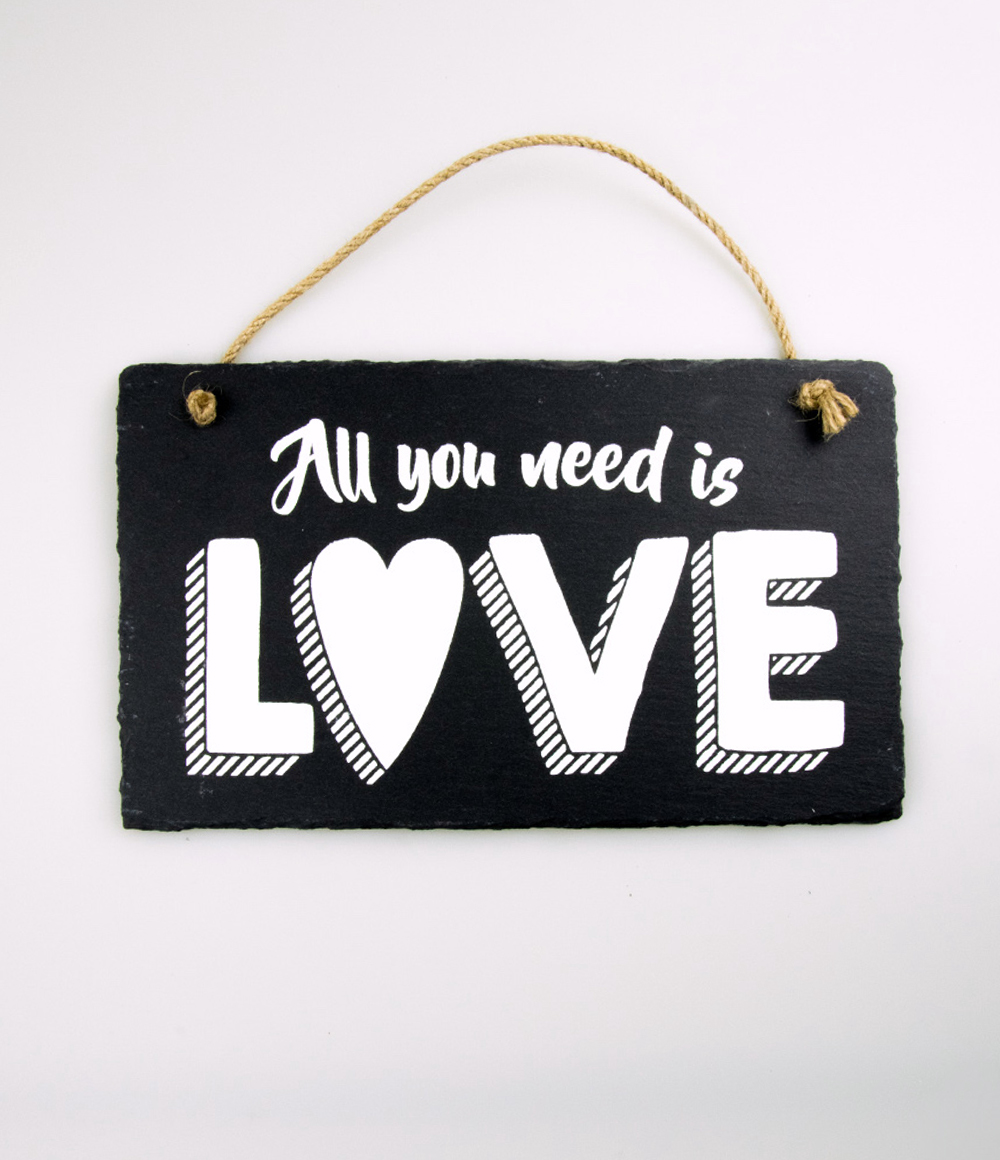 Stone Slogan All you need is Love