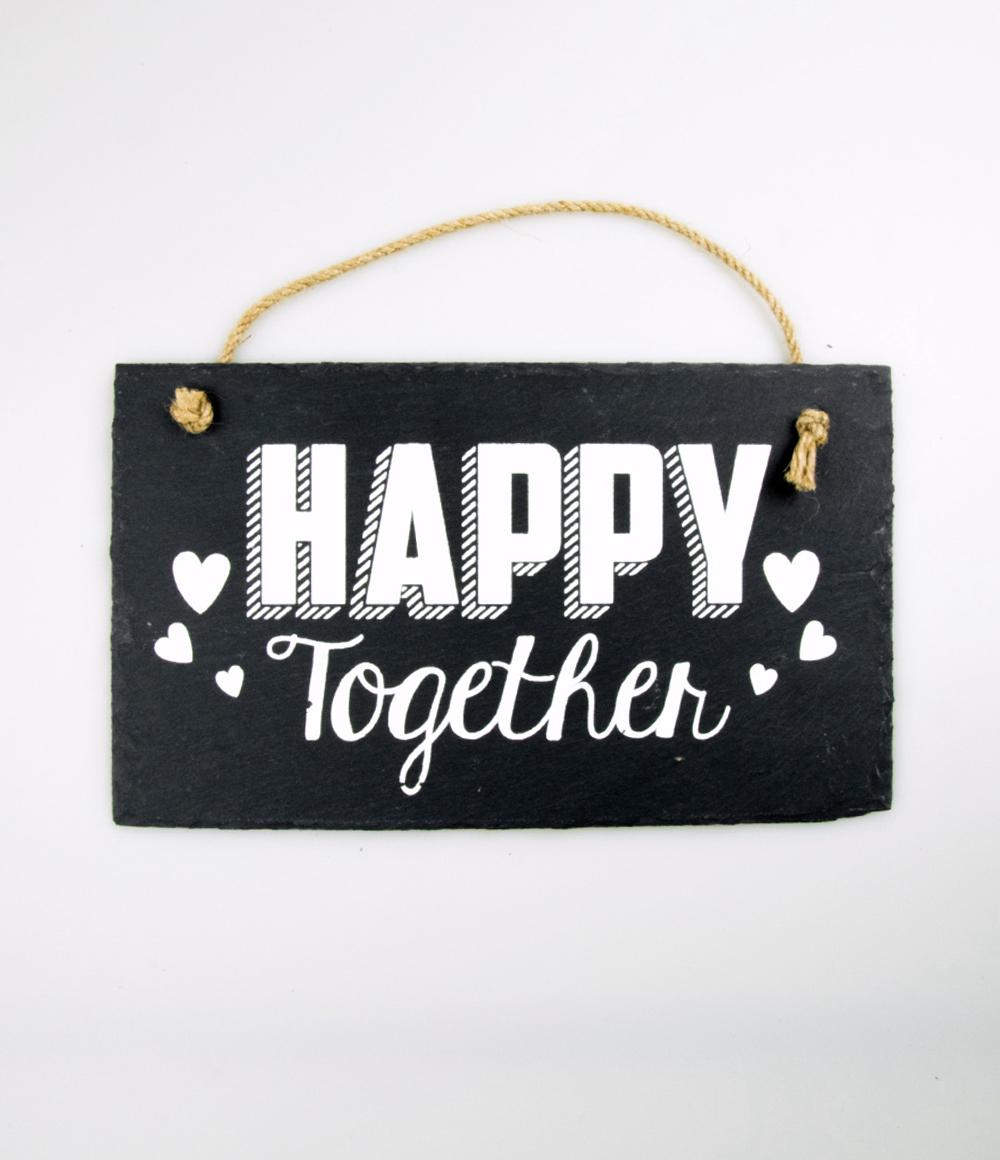 Stone Slogan Happy Together