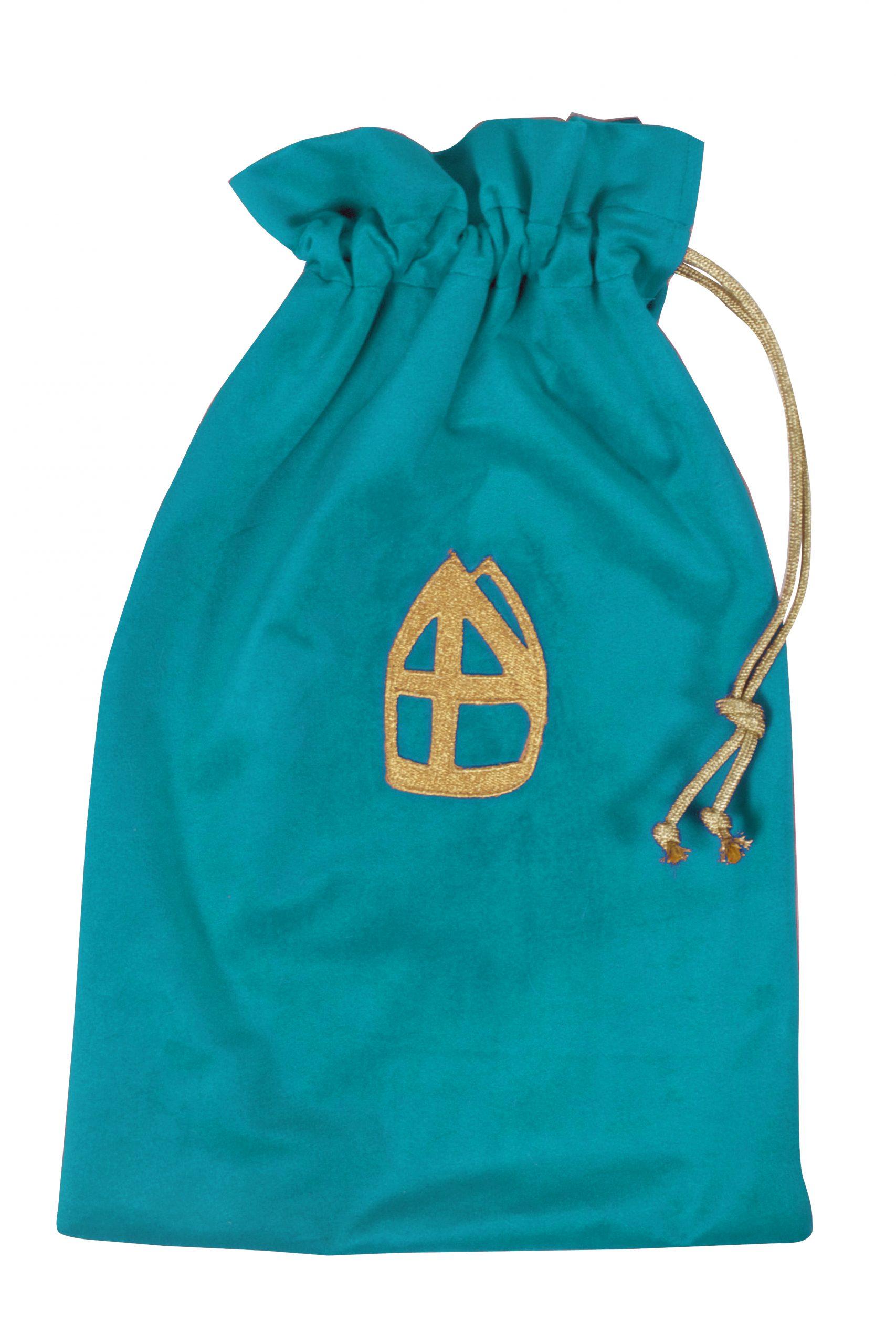 Strooizak Fluweel met Mijter Turquoise