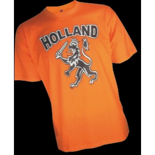 T-Shirt Oranje Holland Leeuw Kind