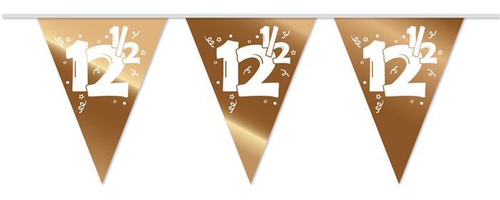 10m Vlaggenlijn 12.5 Brons Wit Opdruk