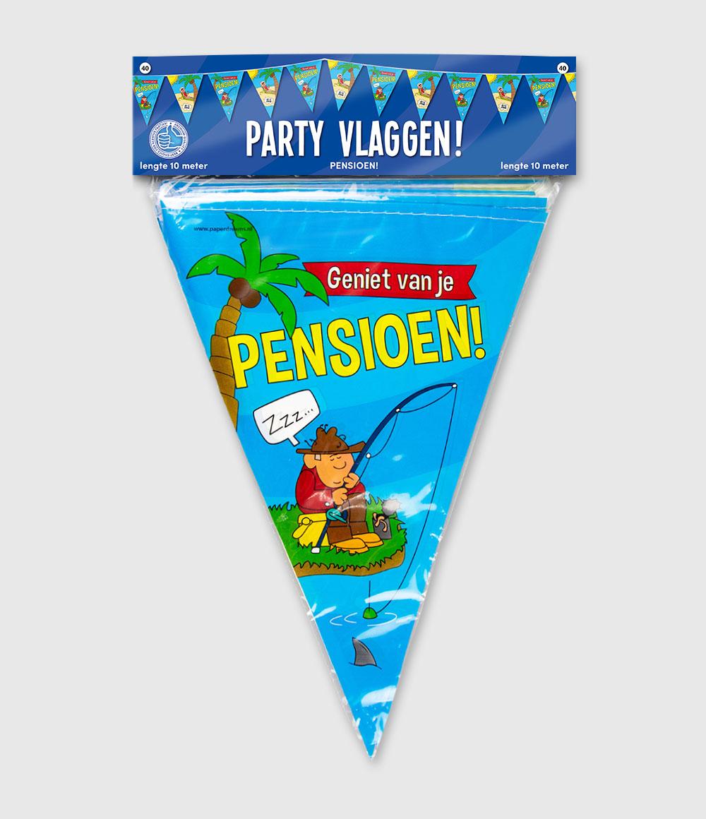 10m Vlaggenlijn Cartoon Pensioen