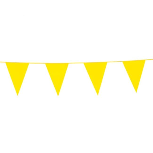 10m Vlaggenlijn Uni Geel