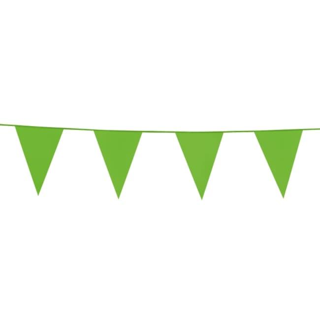 10m Vlaggenlijn Uni Lime Groen