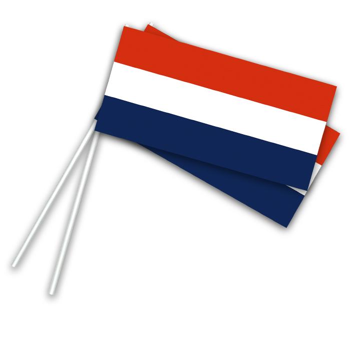 Vlaggetje Papier Nederland