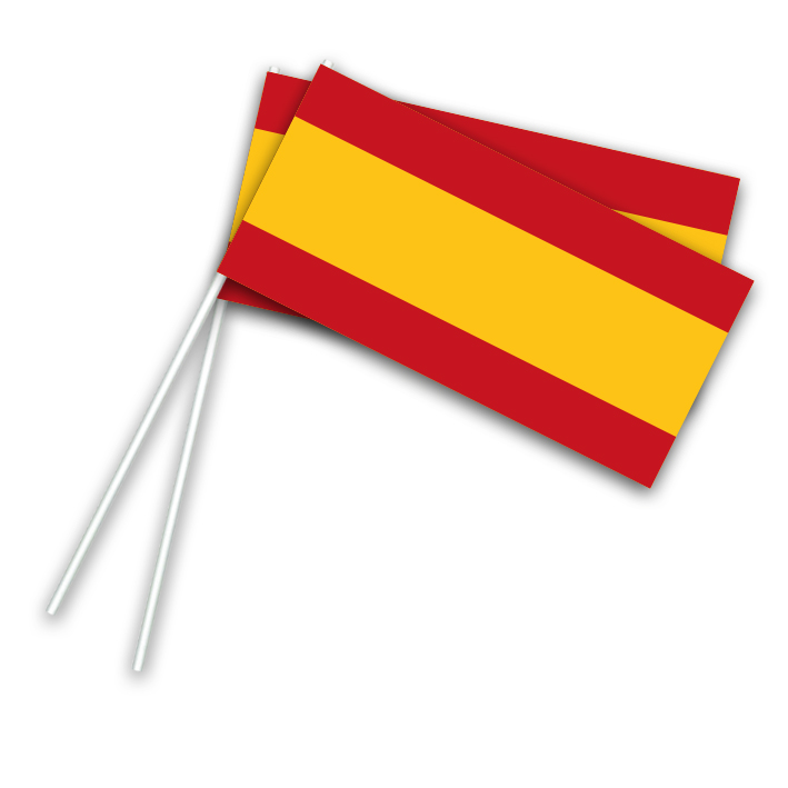 Vlaggetje Papier Spanje