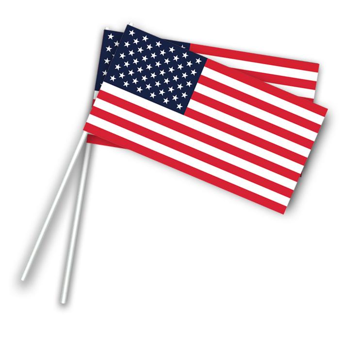 Vlaggetje Papier Amerika/U.S.A.