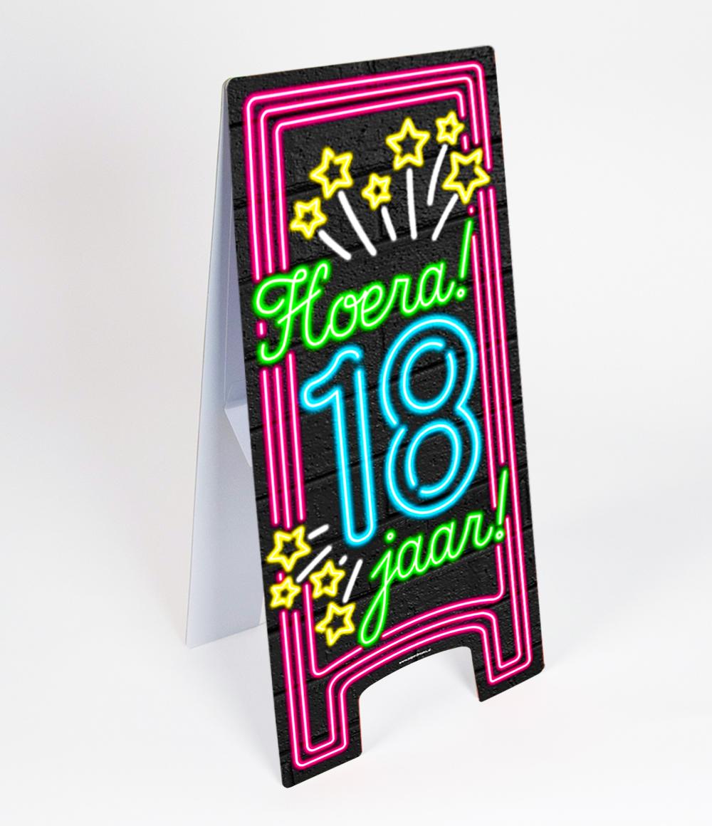 Warning Sign Neon 18 jaar